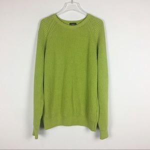 J crew | green crew neck sweater | XL